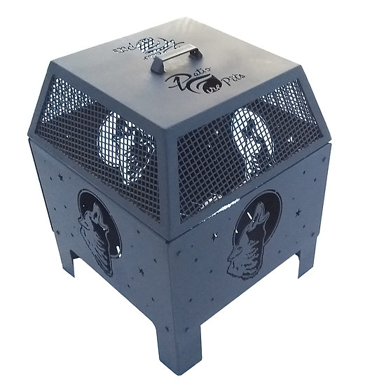 Square Fire Pit & Mesh Cover
