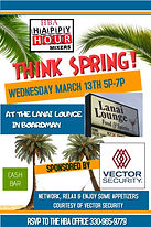 2019 happy hour mixer March Vector Secur