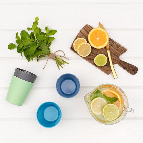 bobo & boo Non-Toxic, Bamboo Kids Drinking Cups, Stackable & Reusable - Coastal