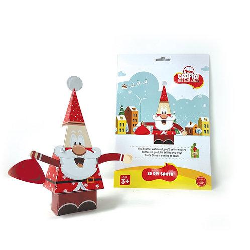 Craftoi Santa  - 3D DIY Paper Craft Kit, Teach Kids About Festivals
