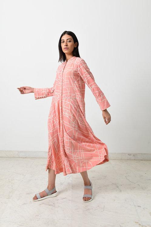 Block Printed Double Pocket Dress