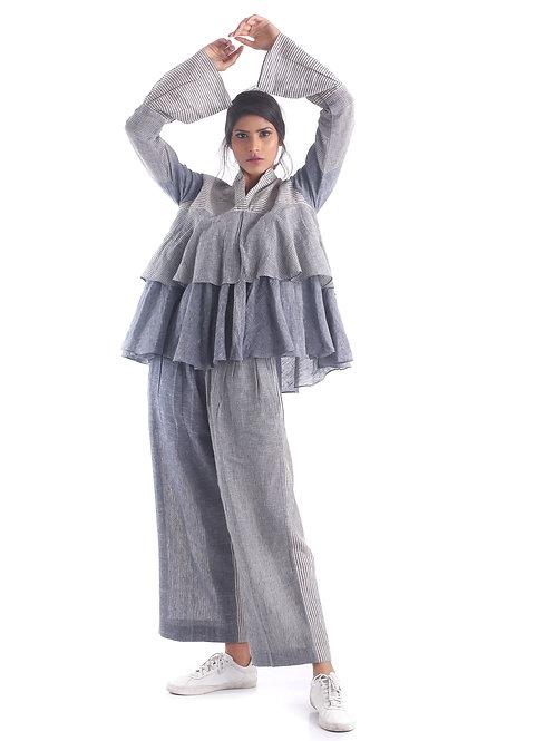 Sustainable Kala Cotton Indigo Avantgarde Fashion Top