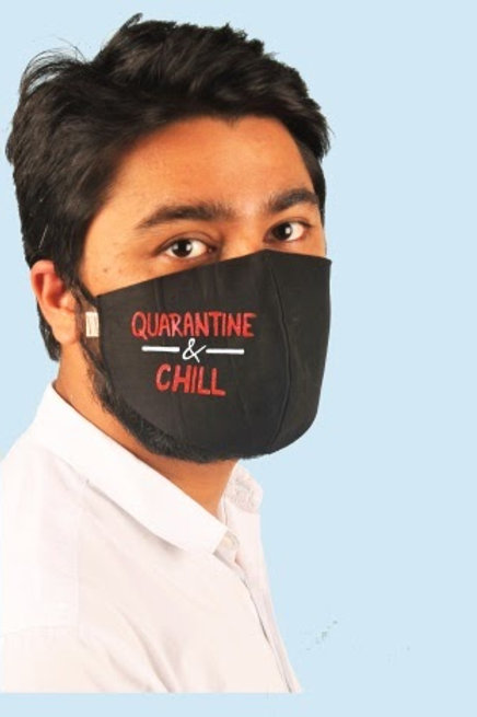 Quarantine & Chill Mens Mask