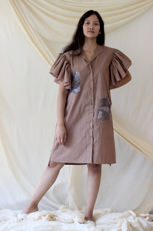 Destiny Dress-Beige