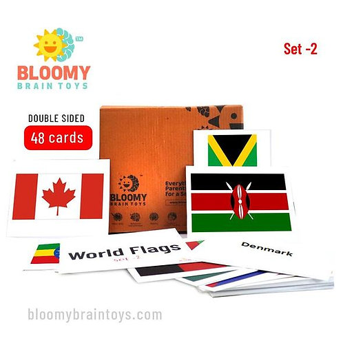 World Flags Flash Cards - Set 2
