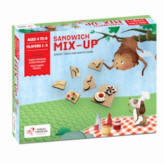 Chalk and Chuckles Sandwich Mix Up- Speedy Tactile Shape Recognition Game.