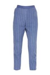 Straight Stripes Pants Iris Blue