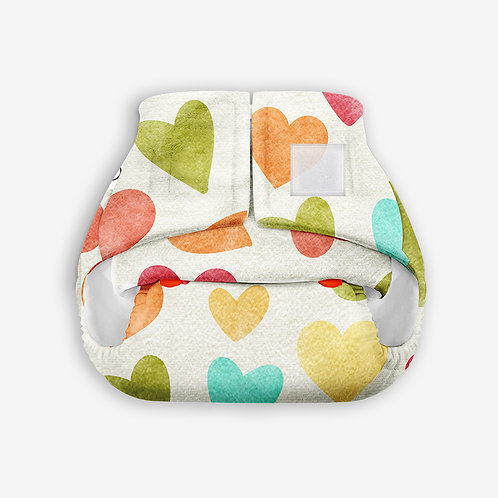 Supperbottoms Newborn UNO, reusable diaper+1 cotton dry pad - Baby Hearts