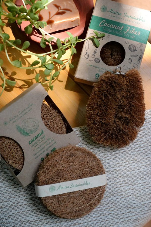 Coconut Fiber- Coir Scrub & Vegetable Cleaner