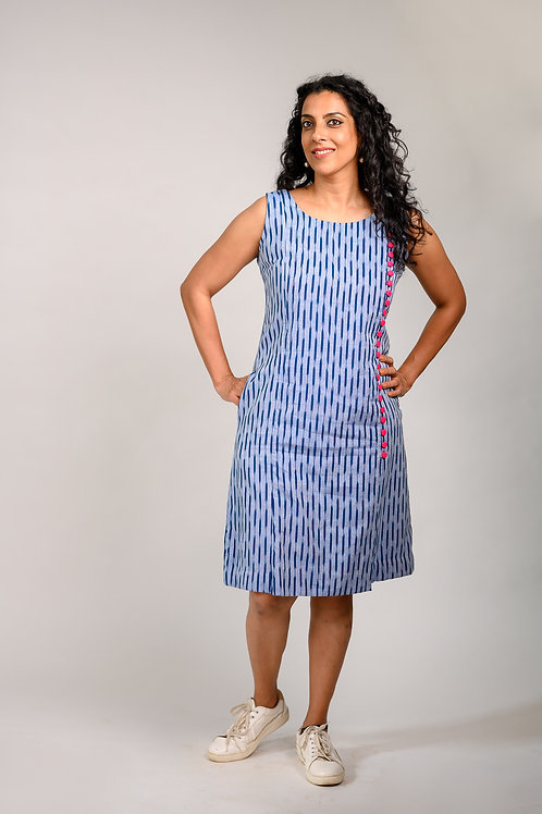 Button Me up Ikat Dress