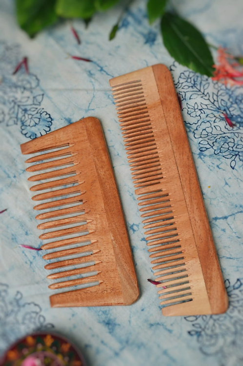 Neem Comb – Pack of 2 (Small and Big)