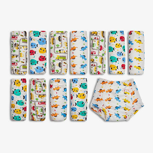 Superbottoms Padded Underwear-Semi Waterproof Pull Up (Pack of 12)