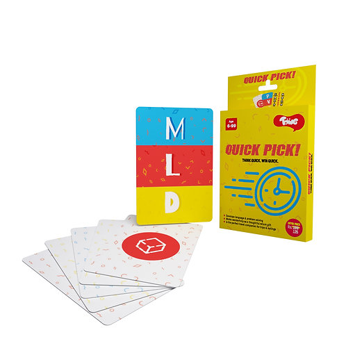 Quick Pick: Fast Paced Card Game Based On Problem Solving