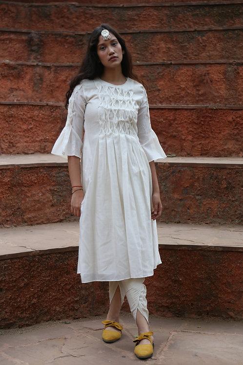 White Smocking Dress