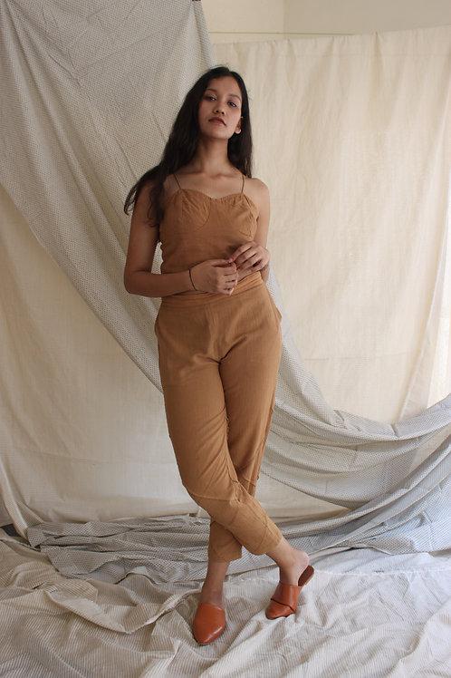 Pleat Pants Tan