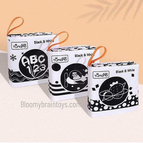 3 in 1 Black And White Baby Cloth Book