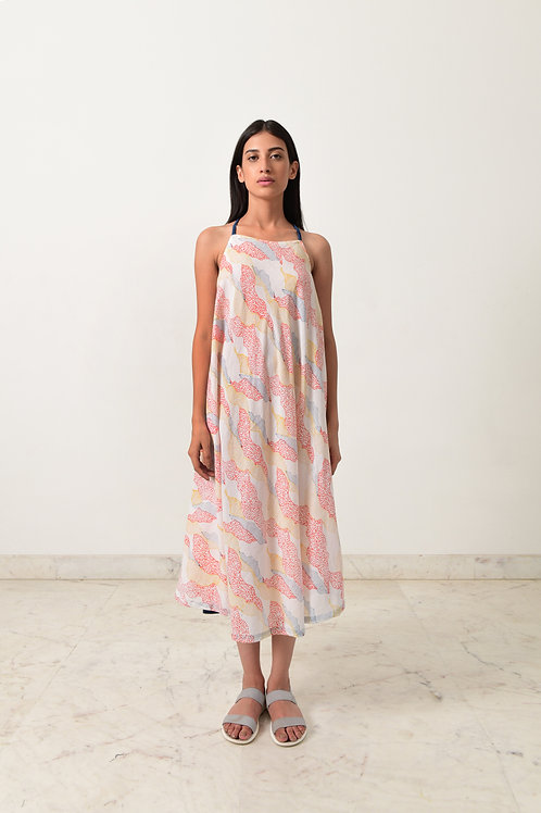 Block Printed Strappy Maxi