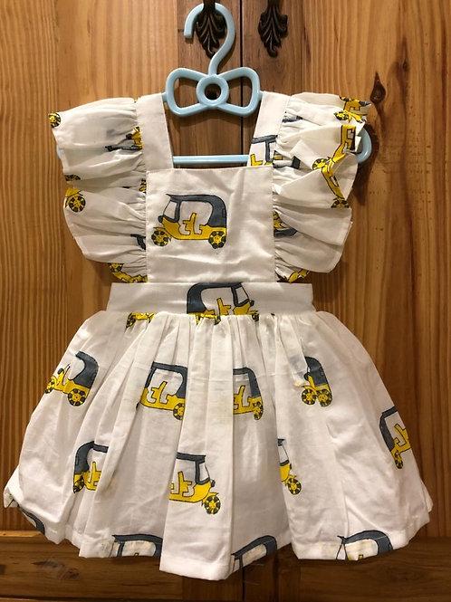 "Rickshaw Print Ruffle Dress             """