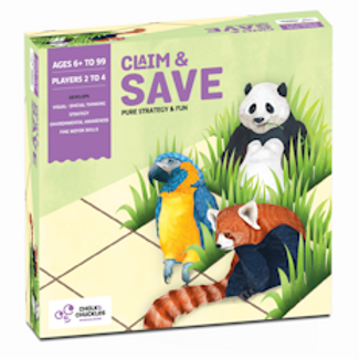 Chalk and Chuckles Claim and Save- Strategy Board Game for Families and Kids.