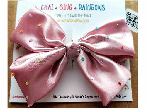 The Pink Shloka Bow