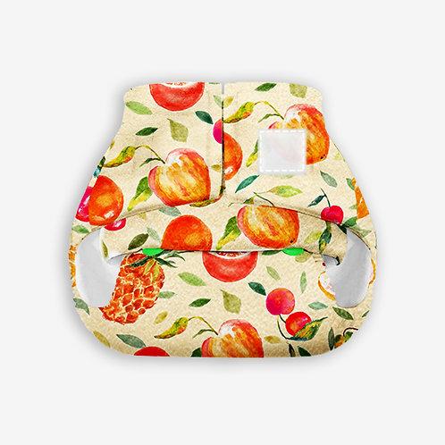 Supperbottoms Newborn UNO, reusable diaper+1 cotton dry pad - Fruit Burst