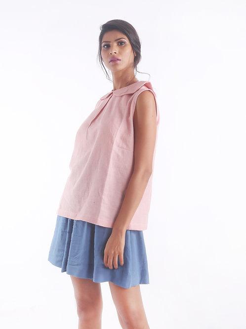 Sustainable Kala Cotton Peter Pan Pink Top