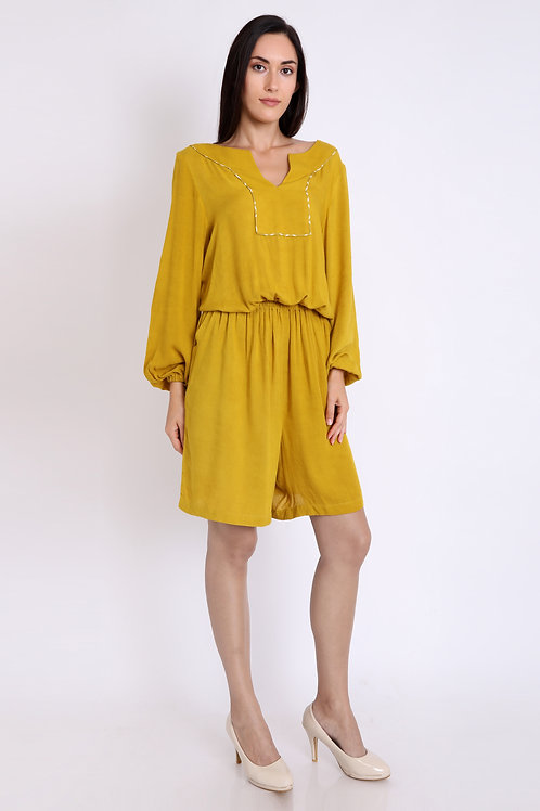 Mustard Comfy Fit Play Suit