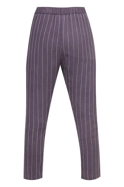 Straight Stripes Pants Purple