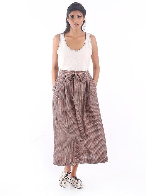 Sustainable Kala Cotton Long Maroon Skirt