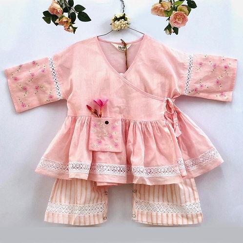 Girls Pink Angarakha Set