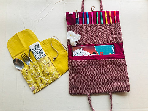 Combo 5 - Art Kit and Cutlery Pouch
