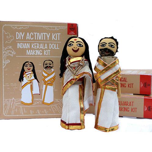 DIY Educational Toys Indian Traditional Doll Making Craft Kit (Dolls of Kerala)