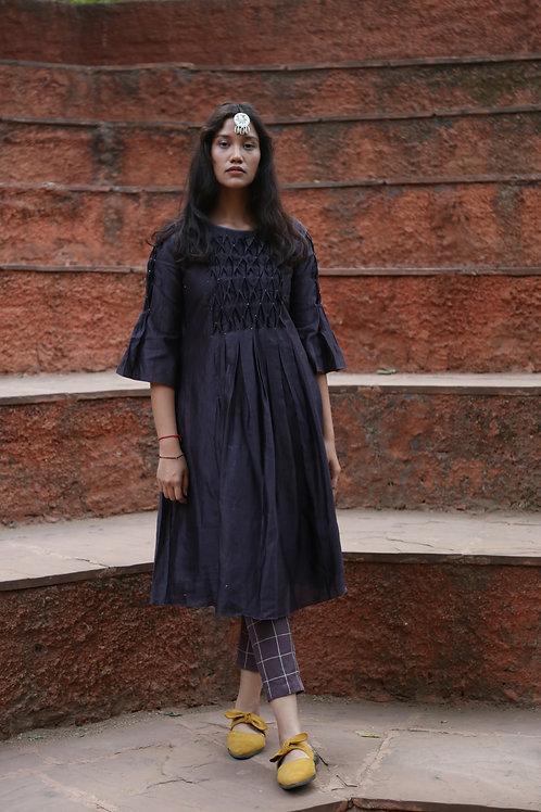 Purple Smocking Dress