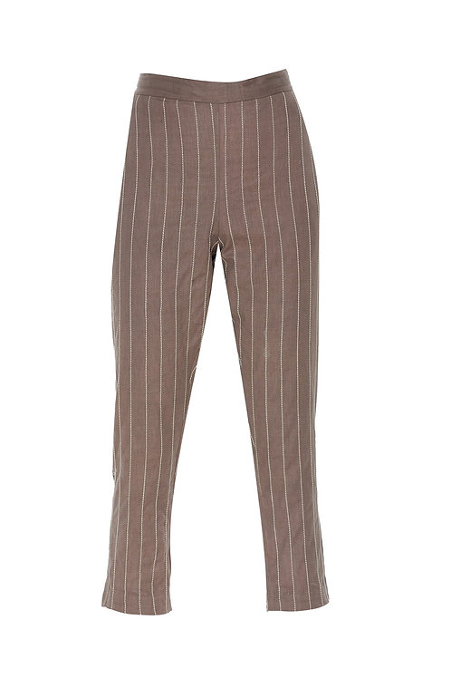 Straight Stripes Pants Pewter