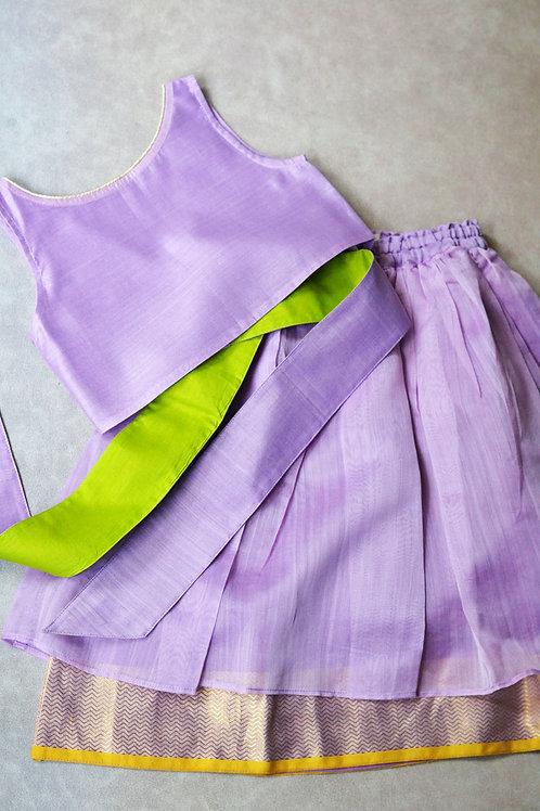 Lilac Lehenga And Blouse Set