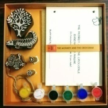 DIY Craft Kit - Panchtantra Story Book(Crocodile and The Monkey)