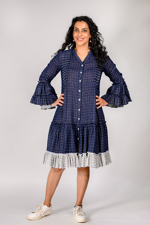 Double Cloth Pintuck Dress