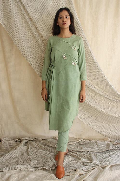 Cotton Linen Dress - Liwa Mint