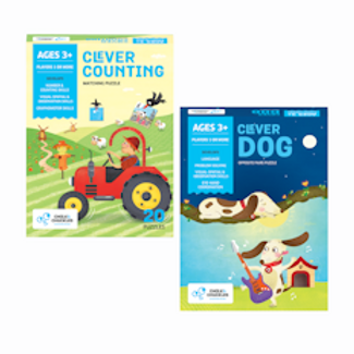 Chalk And Chuckles Clever Series Combo Set of 2 Puzzles- Counting And Opposites.