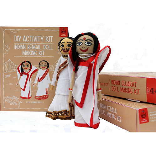 Educational Toys Indian Traditional Doll Making Craft Kit (Dolls of West Bengal)