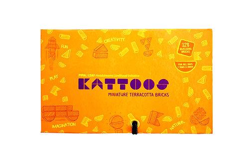 Kattoos Miniature Terracotta Bricks, 128 nos.  (Orange Box)