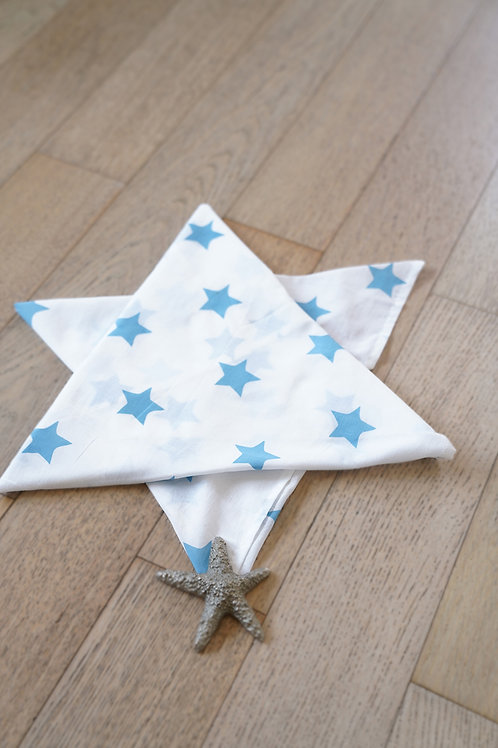 Wish upon a star' Organic Cotton Swaddle in Midnight Blue
