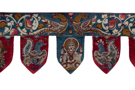 Hand Painted Torans (Parrot with Lakshmi)