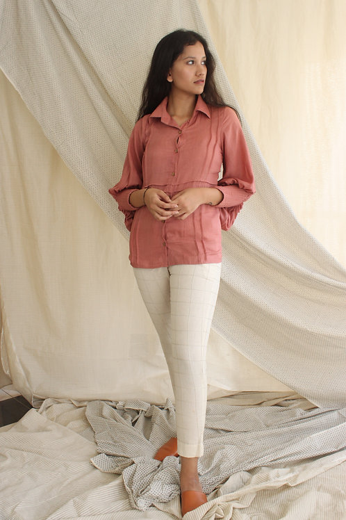 Cotton Crepe Shirt - Cleo - Rose Pink