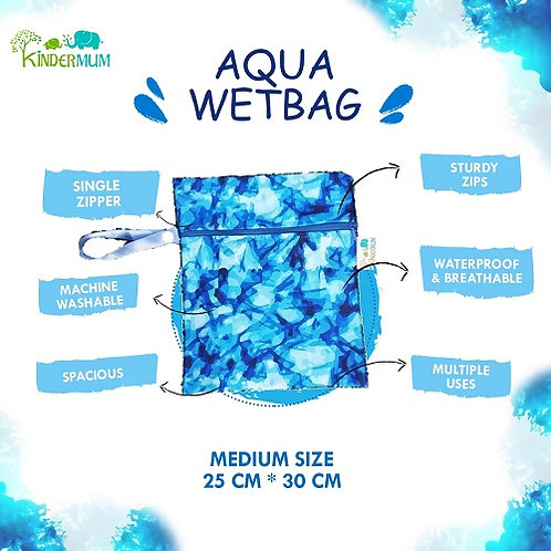 Aqua- Medium Kinder Wetbags