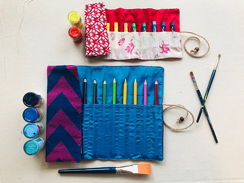 Combo 3 - Pencil Pouch and Crayon Pouch