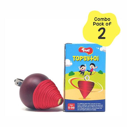 Topsytoi Traditional Wooden Spinner Pack of 2