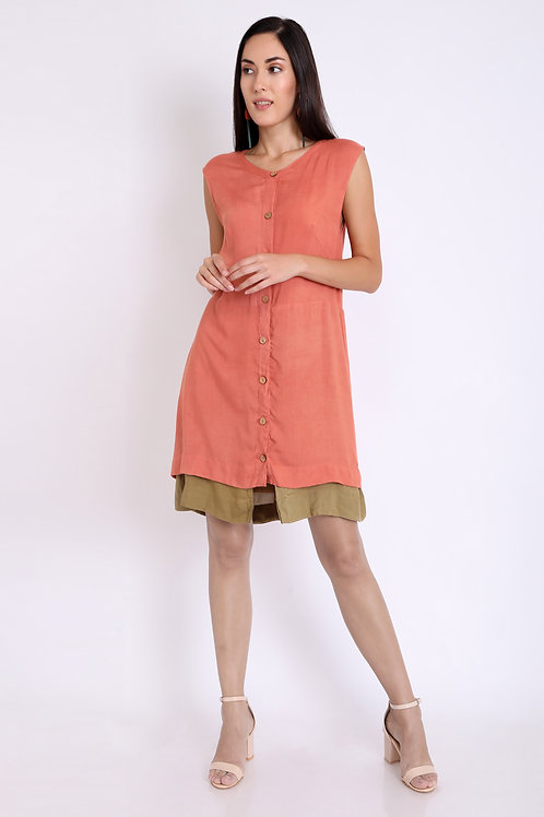 Peach Multi Purpose Shrug Dress