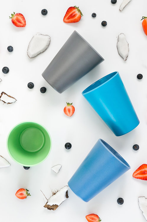 Bobo & Boo Bamboo Adult-Sized Drinking Cups - set of 4 - Coastal