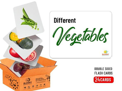 Vegetables - Baby Flash Cards - 24 Cards